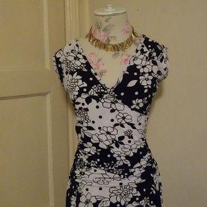 Womens floral faux wrap dress